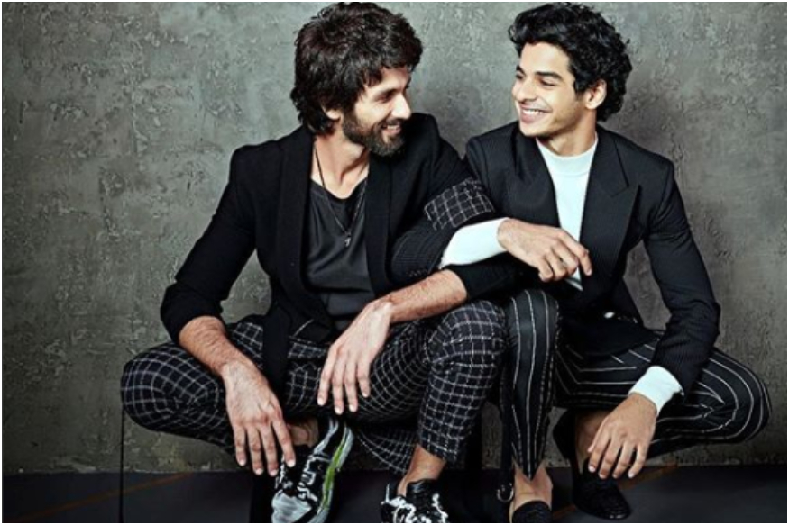 picture of Ishaan Khatter with his half brother shahid kapoor