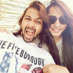Niyati Fatnani with her boyfriend rahul mallah